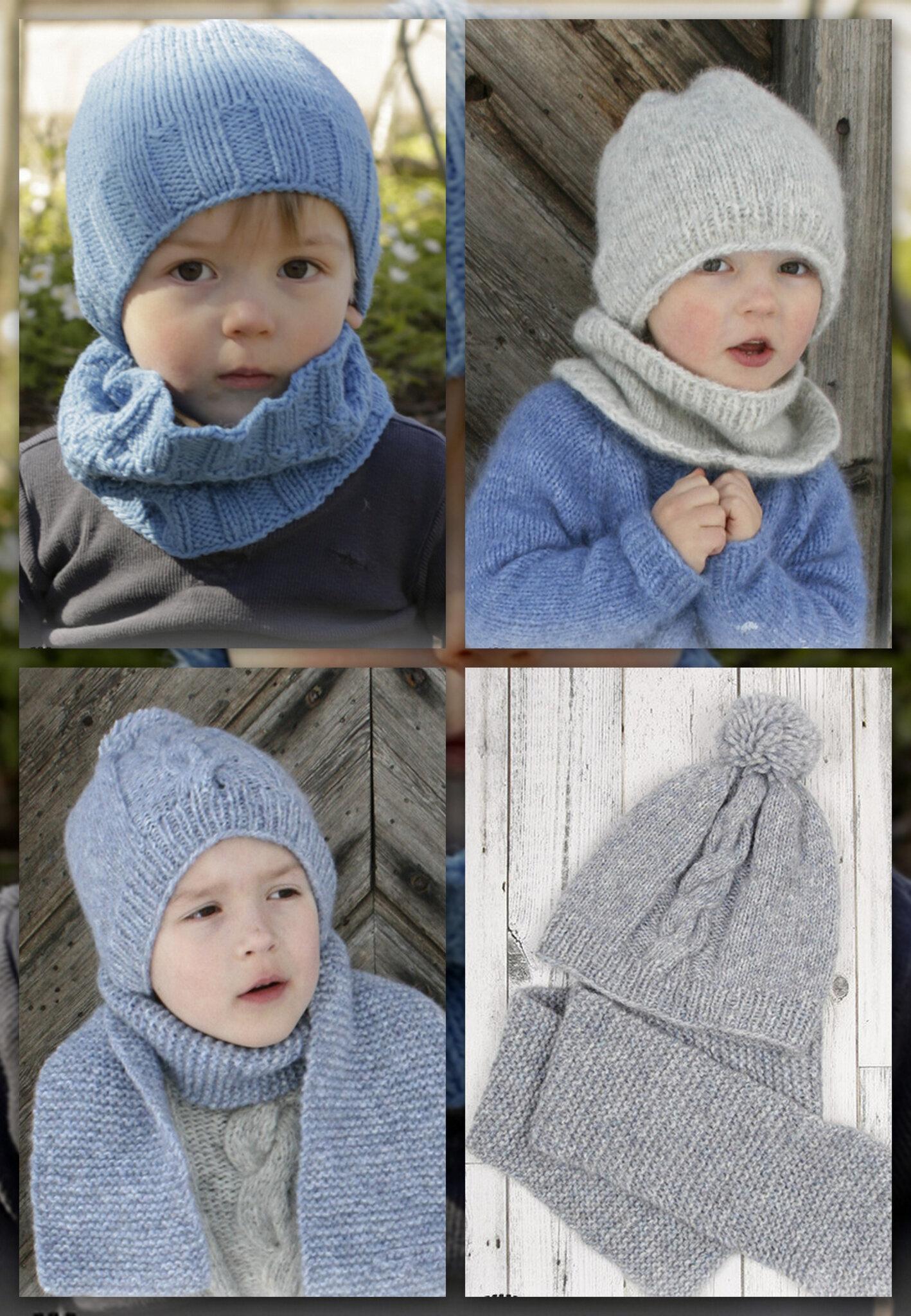 check-out techniques modernes section spéciale Des modèles simples : Bonnet, écharpe et snood pour enfant ...
