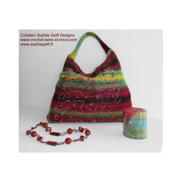 sac laine feutrée