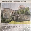 Mercredi 4 novembre 2020: l'histoire du château de caen passe à la télévision ce soir...