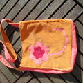 sac cours velours orange