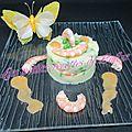 Parmentier de crevettes roses et petits pois