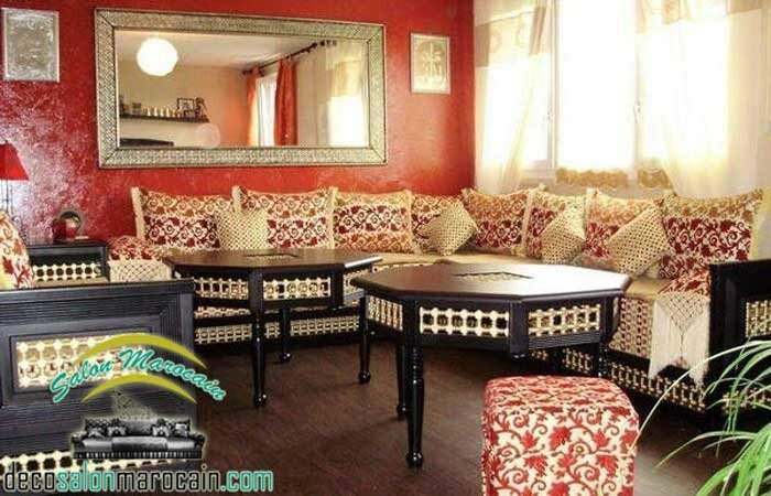 Salon marocain de beau décor 2017 - Salon marocain moderne