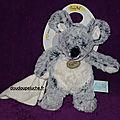 Doudou souris les flocons baby nat, gris blanc, petit mouchoir, 22 cm, www.doudoupeluche.fr