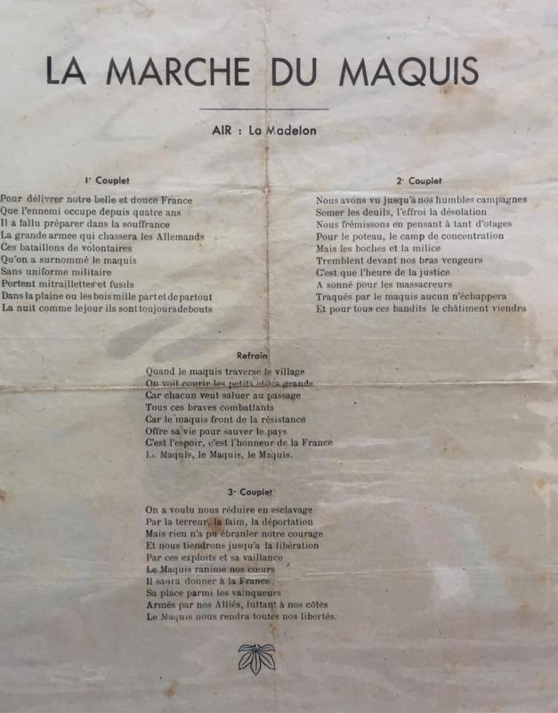 la Marche du Maquis