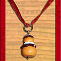 Collier religieuse, ruban orange