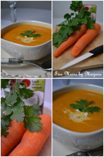 Soupe carottes coco coriandre