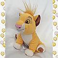 Doudou Peluche Simba Le Roi Lion Assis Disney Store