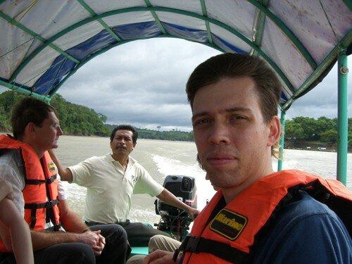 Sailing on the Usumacinta River to Yaxchilan