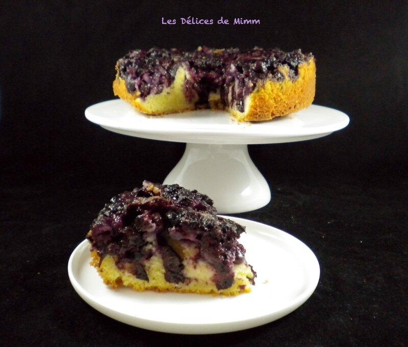 Gâteau moelleux renversé aux myrtilles 5
