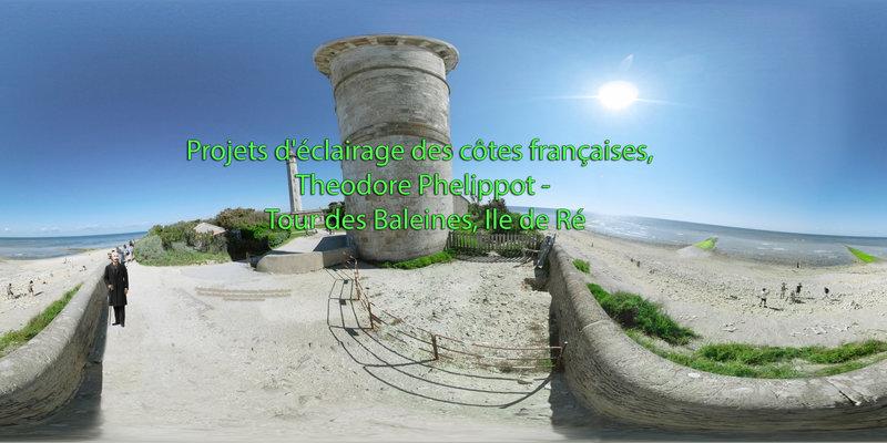 Projets d'éclairage des côtes françaises, Theodore Phelippot - Tour des Baleines, ile de Ré