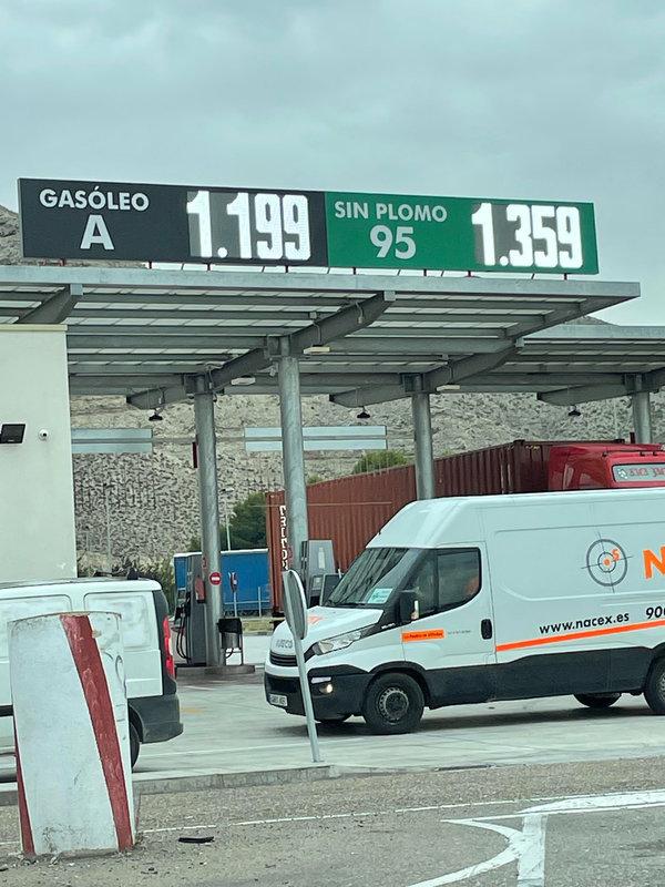 1,19 € le GO dans le centre de l'Espagne fin sept 2021