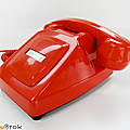 Vintage ... telephone orange (1982) * réception