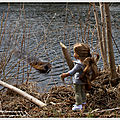 Promenade campagnarde, où lea rencontre pollux le castor - country walk, where lea meets pollux the beaver