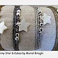 Bracelet/Collier Shiny Star & Cubes