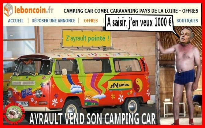 le combi volkswagen camping car de jean marc ayrault en vente sur le petit coin semaine de. Black Bedroom Furniture Sets. Home Design Ideas