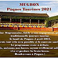 Pâques taurines mugronnaises 2021
