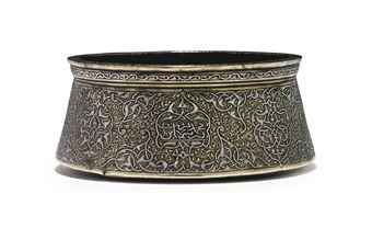 an_important_signed_and_engraved_silver_inlaid_bowl_mamluk_or_post_mam_d5550940h