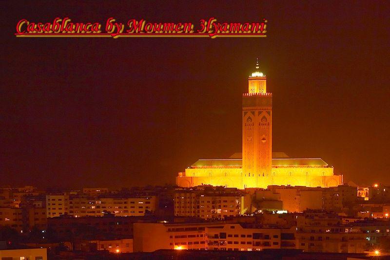 Mosquee Hassan 2 Casablanca La Nuit