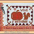 Echange ATC Automne Marie de Clessé pour Isaphanie (Monique)