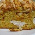 Cake aux carottes et au poulet