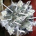 bouquet mariée porte alliance 2 en 1 !!! tres pratique