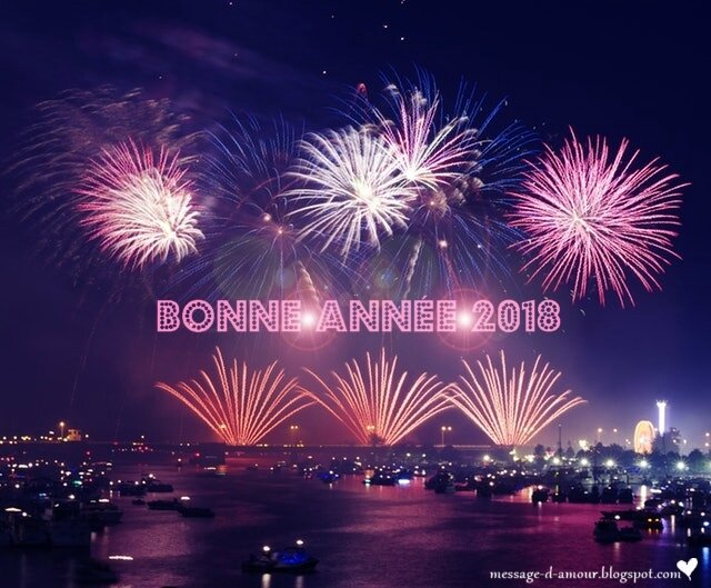 bonne annee 2018 feux d'artifice