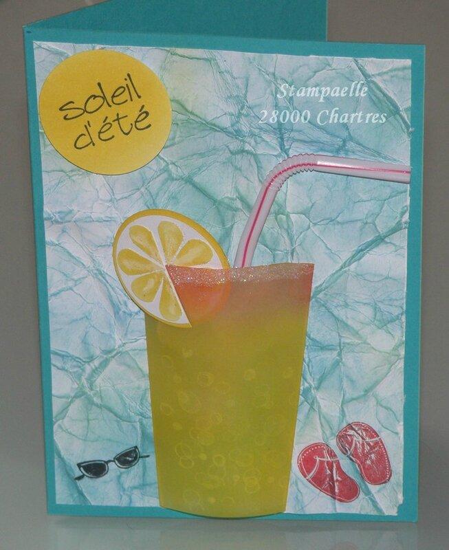 soleil d'été verre drink