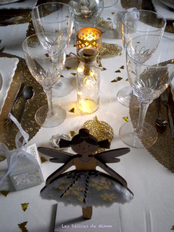 Ma table de réveillon ivoire et or 7