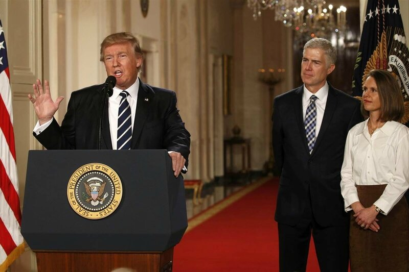 Donald Trump introducing Neil Gorsuch jan 31 2017