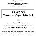 Cévennes, terre de refuge, 1940-1944