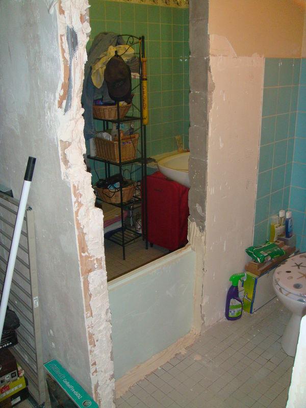 Séparation de la salle de bain et des toilettes - Blog de ...