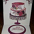 Carte d'anniversaire (carte pupitre)