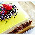Cheesecake sans cuisson au citron et spéculoos et son miroir au citron.....