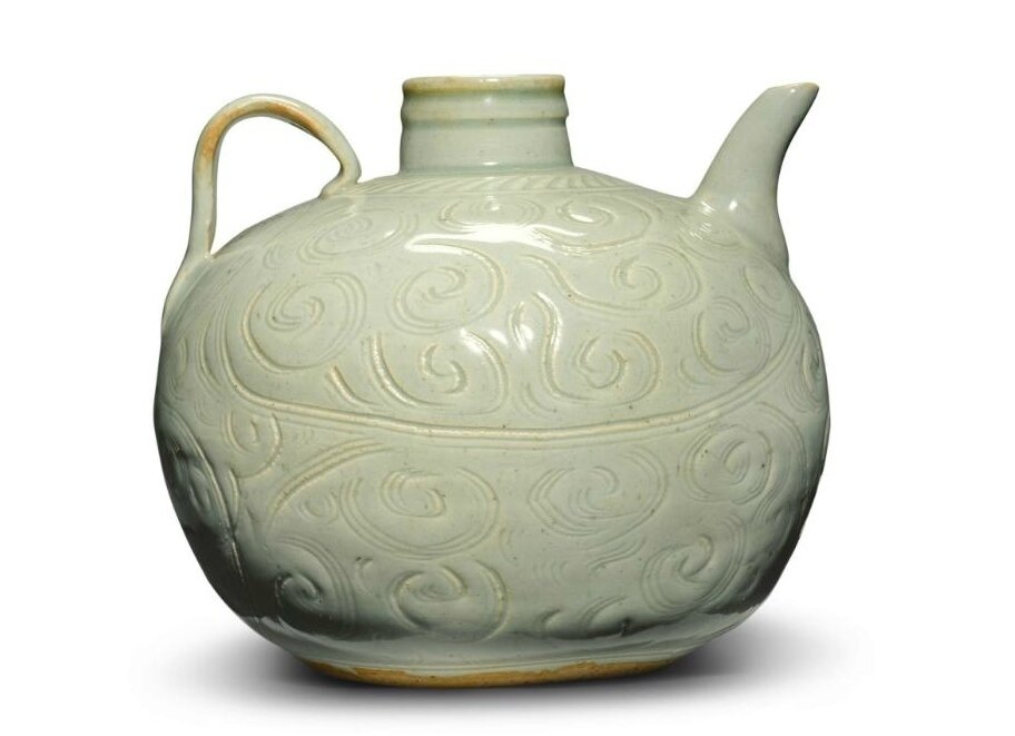 A Qingbai ewer, Southern Song dynasty (1127–1279)