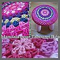 Mandala pour une fleur arc en ciel