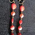 B.o. clips pendantes perles rouges & noires