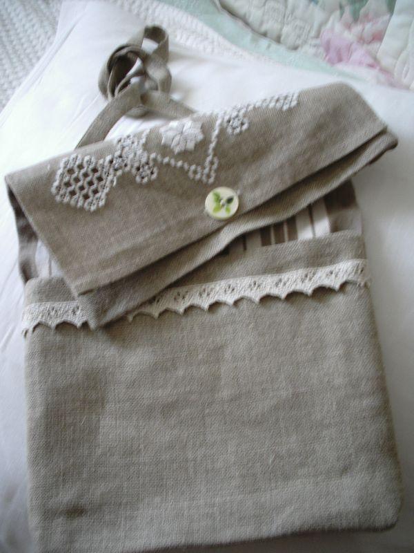 Pochette lin-sac 005