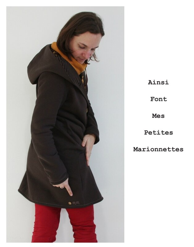 sweat veste marron 10