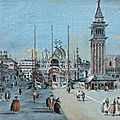Giacomo guardi (venise 1712 - 1793), vue animée de la place saint-marc