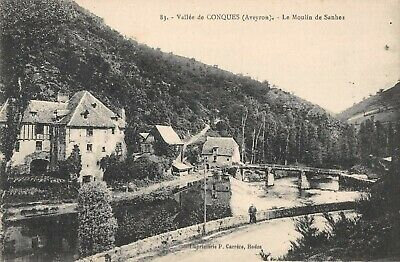 Cpa-12-Vallee-De-Conques-Le-Moulin-De