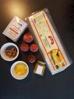 cathytutu tarte dine aux pêches myrtilles miel pistache cyril lignac tous en cuisine