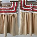 robe crochet et jersey