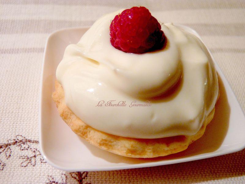 Tartelette chocolat blanc et framboise