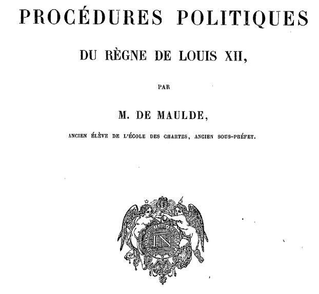 Procédures politiques Louis XII_1