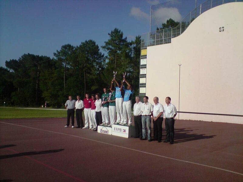Podium de l'Open 2009 au fronton de Gradignan