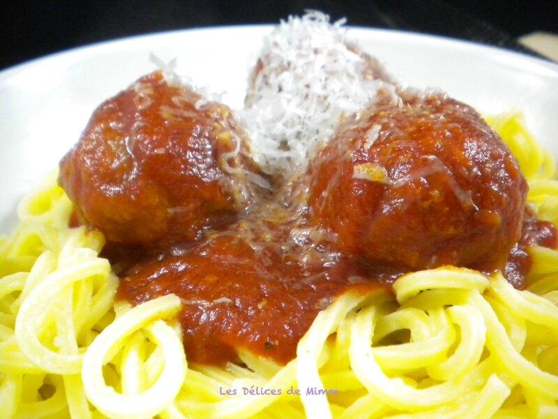 Spaghetti aux boulettes de viande à l'italienne 3