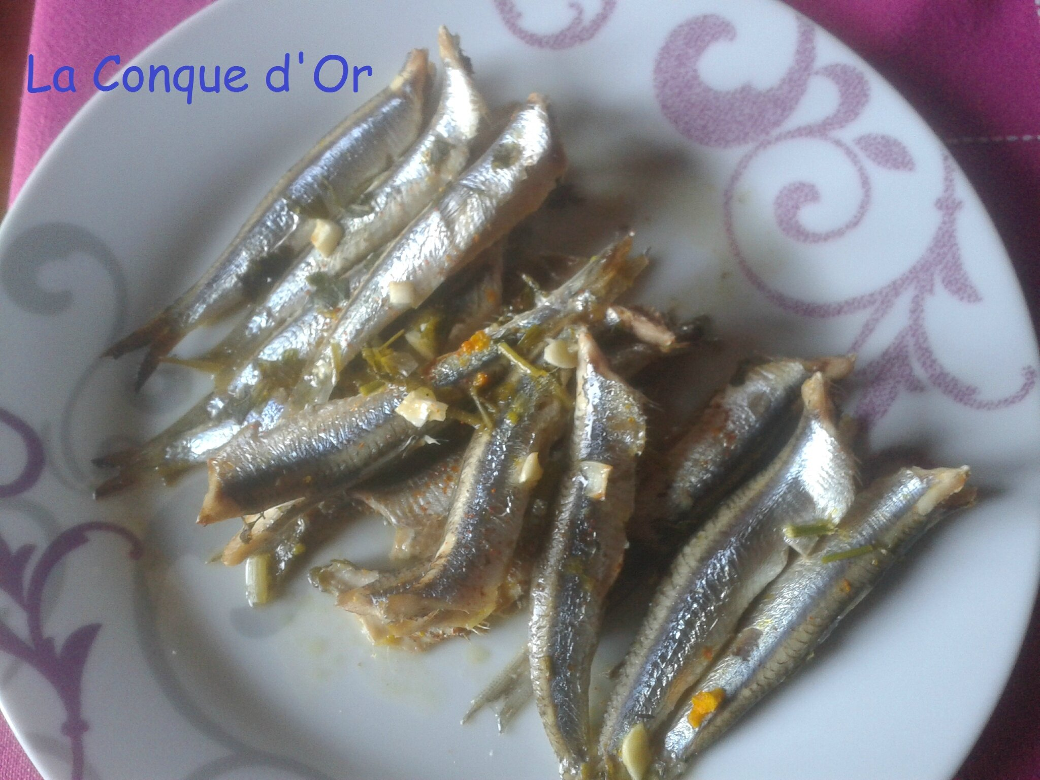 Anchois aux zestes d'orange
