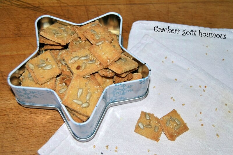Crackers goût houmous