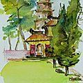 pagode vieille dame