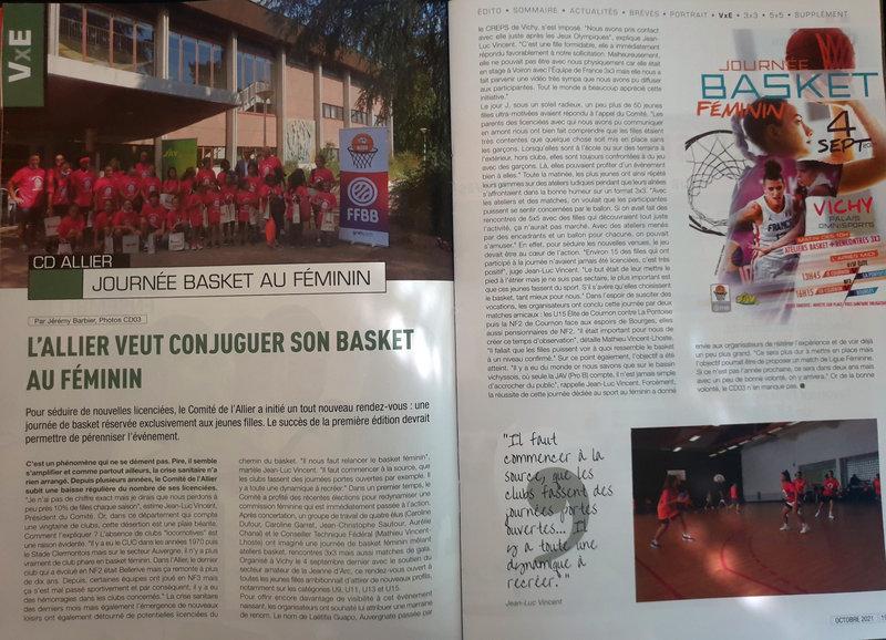 2021-10-07 Article FFBB Magazine